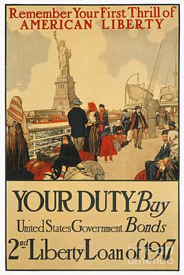 Photograph - World War I: Liberty Loan by Granger