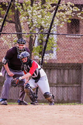 Photograph - Youth Baseball Match by Peter Lakomy