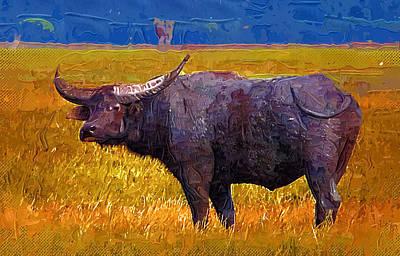 Buffalo Art Print by Anna J Davis