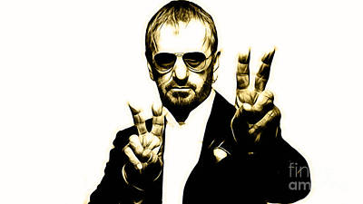 Ringo Starr Collection Art Print by Marvin Blaine