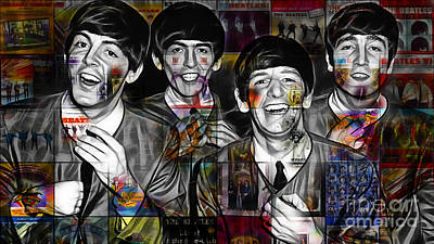 The Beatles Collection Art Print by Marvin Blaine