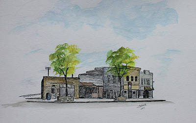 Painting - 600 Block West College Ave by Jack G Brauer
