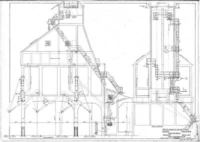 Drawing - 600 Ton Coaling Tower Plans by Baltimore and Ohio Railroad