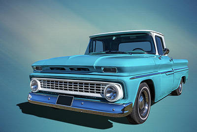Chev Pickup Photograph - 60s Pickup by Keith Hawley