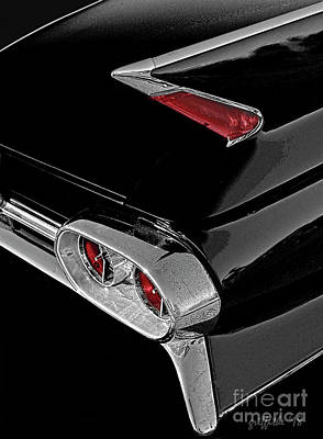 Photograph - '61 Cadillac Fin by Tom Griffithe