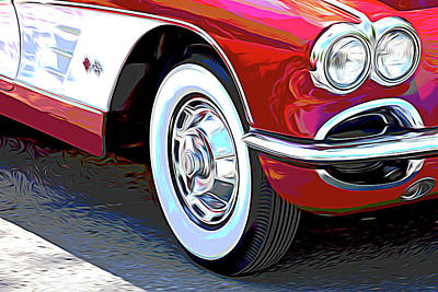 Photograph - 61 Corvette by Tom Mc Nemar