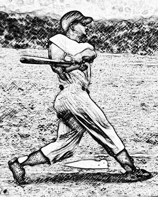 Babe Ruth Digital Art - 61 In 61 by Anthony Caruso