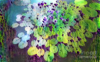 Lilies Digital Art - Jeweled Water Lilies by Amy Cicconi