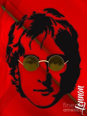 Hip Mixed Media - John Lennon Collection by Marvin Blaine
