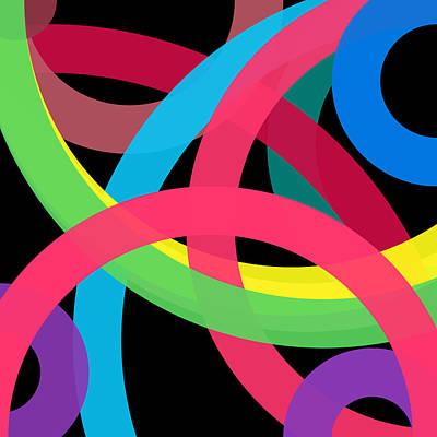 Drawing - 610 - Phi Word Circle by REVAD David Riley