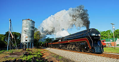 Norfolk And Western J 611 In Ruffin Nc Near Silo Art Print