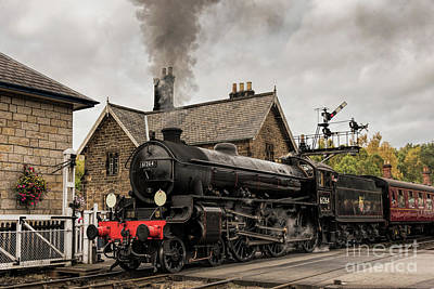 Photograph - 61264 Departs Grosmont by David  Hollingworth