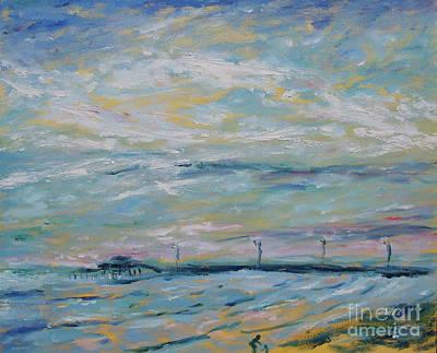 Painting - 61st Street Pier Galveston Texas by Felipe Adan Lerma