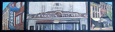 Historic Franklin Tennessee Mixed Media - #62 Going To The Franklin Theatre by Alison Poland