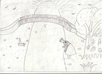 Save The Girl Child Drawing - 62 by Surbhi Sardar