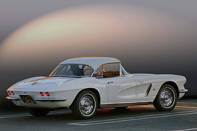 Photograph - 62 White Red Corvette by Bill Dutting