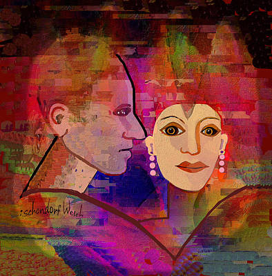 Digital Art -    624  Love And  Romance A by Irmgard Schoendorf Welch