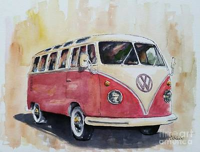 Painting - '63 V.w. Bus by William Reed