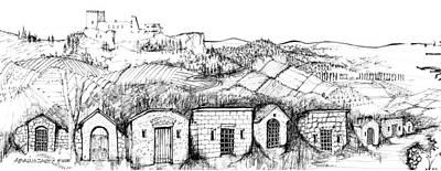 Wine Cellar Drawing - 6.39.hungary-4-detail-j by Charlie Szoradi