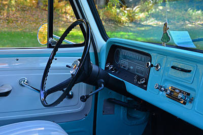 Photograph - '64 Chevy C10 Dashboard by Mike Martin