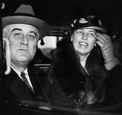 President And First Lady Photograph - President Franklin D. Roosevelt by Everett