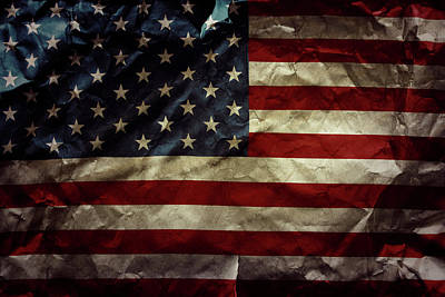 American National Flag Photograph - Usa Flag by Les Cunliffe