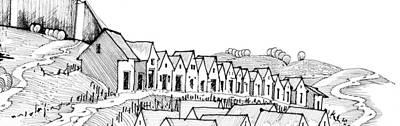 Wine Cellar Drawing - 6.40.hungary-4-detail-k by Charlie Szoradi