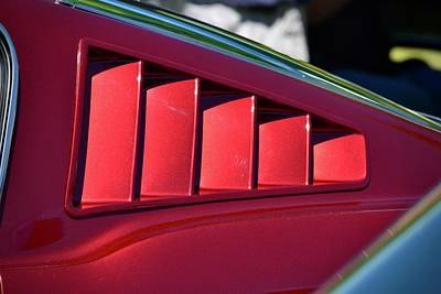 Photograph - 65-66 Mustang Fastback Detail by Dean Ferreira