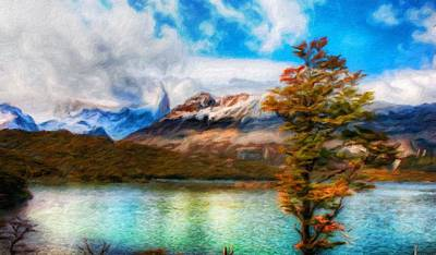 Winter Painting - Landscape Pictures Nature by Margaret J Rocha