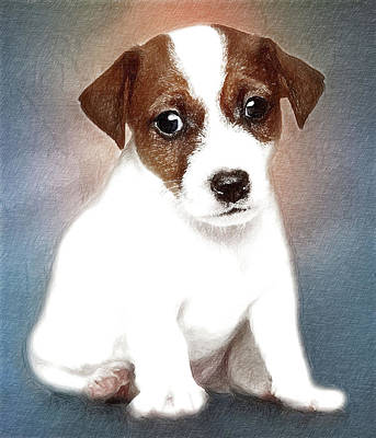 Puppy Art Print by Anna J Davis