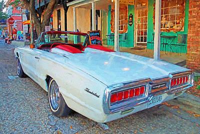 Photograph - 65 Thunderbird Convertible Classic Car by Rebecca Korpita