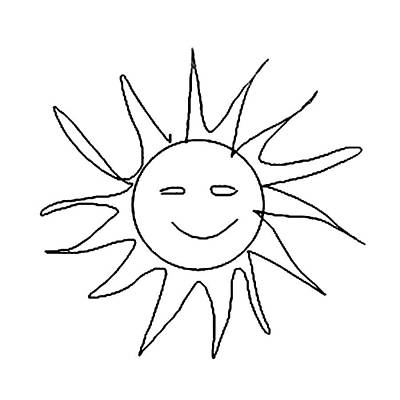 6.57.hungary-6-detail-sun-with-smile Art Print