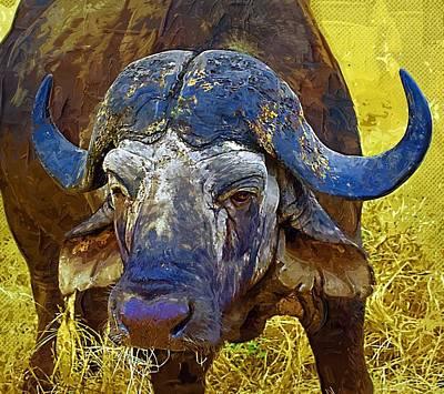 Bison Digital Art - Buffalo by Anna J Davis