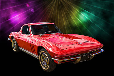 Classic Chev Photograph - 66 Corvette by Keith Hawley