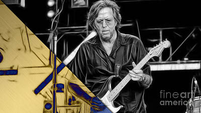 Eric Clapton Collection Art Print by Marvin Blaine