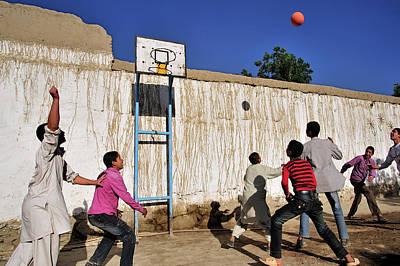 Basket Ball Game Photograph - Kabuli Street Kids by Olivier Blaise