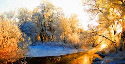 River Painting - Landscape On Nature by Margaret J Rocha