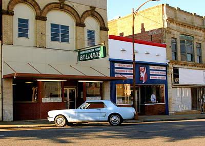 66 Mustang Down Town Art Print by Danny Jones