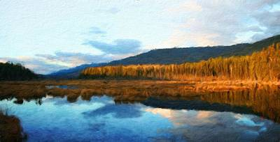 Winter Painting - Nature Original Landscape Painting by Margaret J Rocha