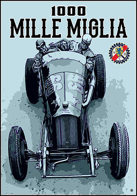 Digital Art - Mille Miglia by Gary Grayson
