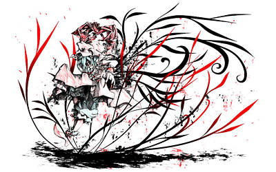 Drawing Digital Art - Touhou by Super Lovely
