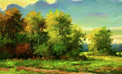 Morning Painting - Nature Art Landscape by Edna Wallen