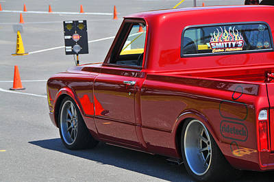 Photograph - '67 Chevy C10 Awaits Green Light by Mike Martin