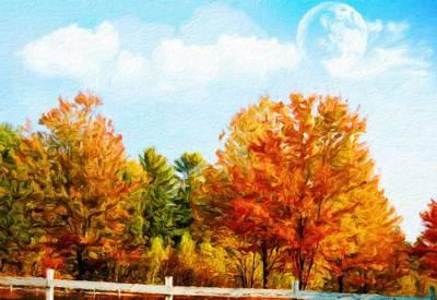 Spring Painting - Landscape Nature Art by Margaret J Rocha