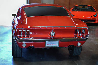 Photograph - 67 Mustang G T Fb by Bill Dutting