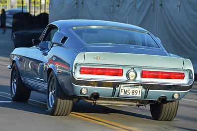 Photograph - 67 Shelby Gt500 by Bill Dutting