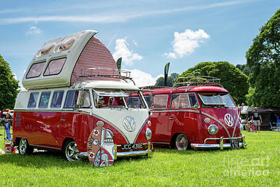 Photograph - 67  Split Screen Vw Campervans by Tim Gainey