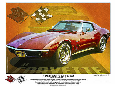 Photograph - 68 Corvette by Kenneth De Tore