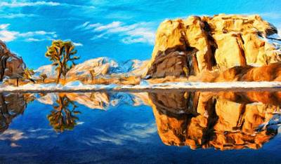 Mountains Painting - Oil Painting Landscape Pictures by Margaret J Rocha