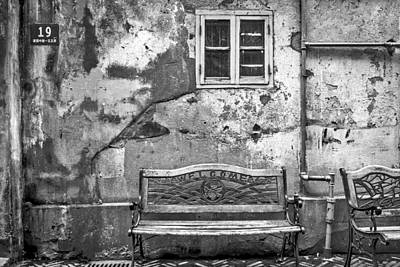 Grateful Dead - 6876-BW-Welcome Bench by David Lange